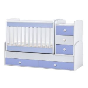 Детско легло Лейди Dizain Baby - бял + син