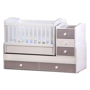 Детско легло Ниа - серия гланц Dizain Baby - бял + лате