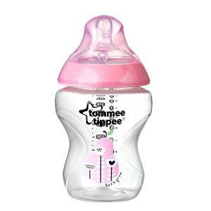 Шише за хранене Easi-Vent 260 ml. 0м+ Tommee Tippee - розово