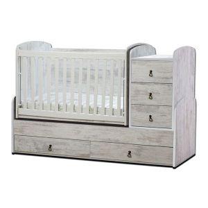 Детско легло Ниа Dizain Baby - антик / подвижна решетка