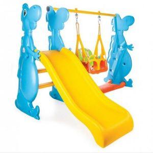 Детска пързалка с люлка Дино PILSAN