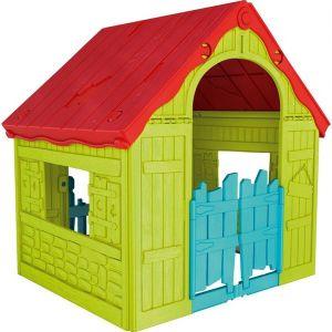 Пластмасова къща за игра Wonderfold KETER - зелена