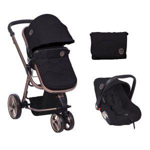 Бебешка количка 3в1 Amica KIKKABOO - Black