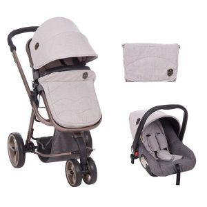 Бебешка количка 3в1 Amica KIKKABOO - Grey
