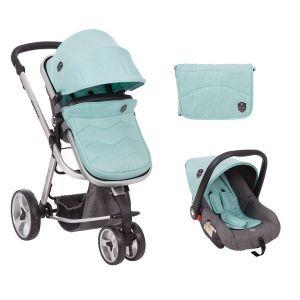 Бебешка количка 3в1 Amica KIKKABOO - Mint