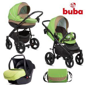 Комбинирана бебешка количка 3в1 Bella Buba - green