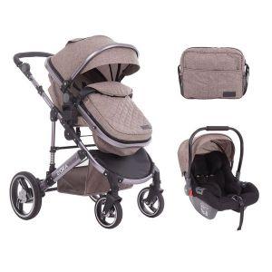 Бебешка количка с трансформиращ кош 3в1 D`ora KikkaBoo - Beige