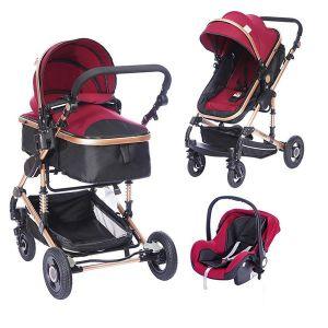 Бебешка комбинирана количка 3в1 Fontana ZIZITO - червена