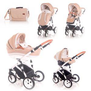 Бебешка комбинирана количка 3в1 MIA LORELLI - Light&Dark Beige
