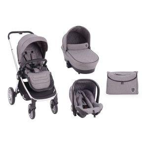 Детска количка 3в1 Vicenza KikkaBoo - Luxury Grey