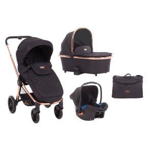 Детска количка 3в1 Vicenza KikkaBoo - Premium Black