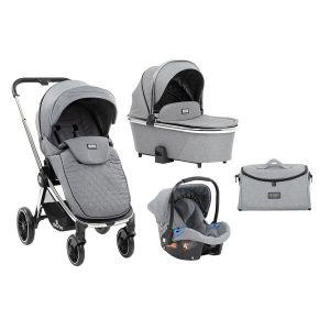 Детска количка 3в1 Vicenza KikkaBoo - Premium Grey