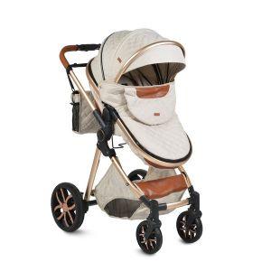 Комбинирана детска количка Alma MONI - бежова