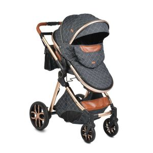Комбинирана детска количка Alma MONI - черна