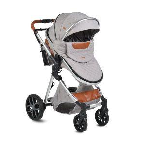 Комбинирана детска количка Alma MONI - светло сива