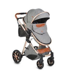 Комбинирана детска количка Alma MONI - тъмно сива