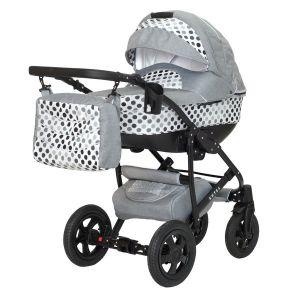 Комбинирана бебешка количка Estel 3в1 DIZAIN BABY - сиви точки