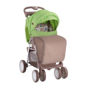 Лятна детска количка с покривало FOXY LORELLI - Beige&Green Lambs