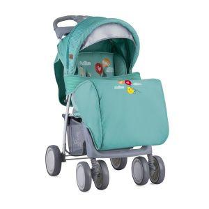 Лятна детска количка с покривало FOXY LORELLI - Green Happy Animals