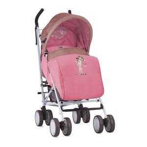Лятна детска количка с покривало IDA LORELLI - Beige&Pink Girl