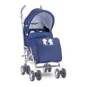 Лятна детска количка с покривало IDA LORELLI - Dark Blue HAPPY HIPPO