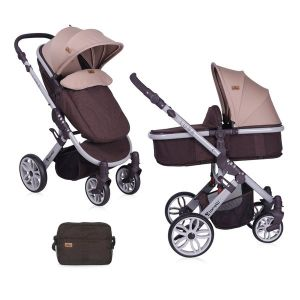 Детска количка LUNA 2в1 LORELLI - Brown&Beige