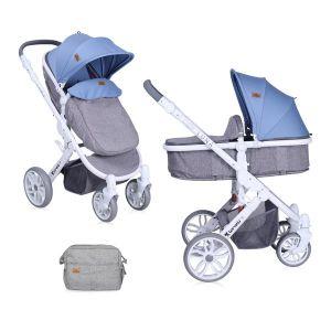 Детска количка LUNA 2в1 LORELLI - Grey&Blue