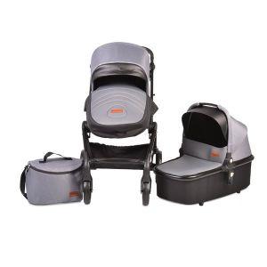 Комбинирана бебешка количка Mira 2в1 CANGAROO - сива