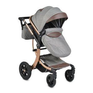 Комбинирана бебешка количка Sofie MONI - тъмно сива