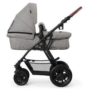 Комбинирана бебешка количка 3в1 Xmoov KINDERKRAFT - сива