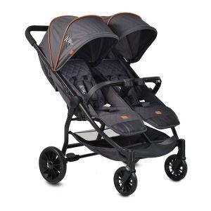 Детска количка за близнаци Rome Moni - черна