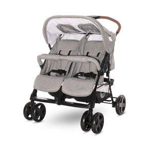 Детска количка за близнаци TWIN LORELLI - STEEL Grey
