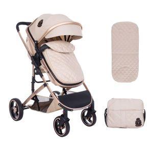 Бебешка количка 2в1 Tiara KikkaBoo - Beige