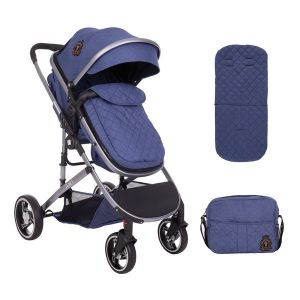 Бебешка количка 2в1 Tiara KikkaBoo - Dark Blue