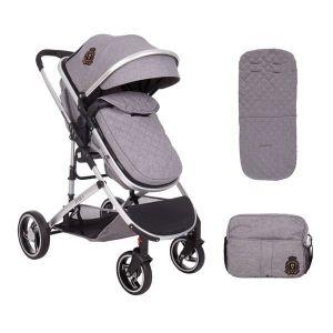 Бебешка количка 2в1 Tiara KikkaBoo - Grey