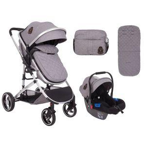 Бебешка комбинирана количка 3в1 Tiara KikkaBoo - Grey