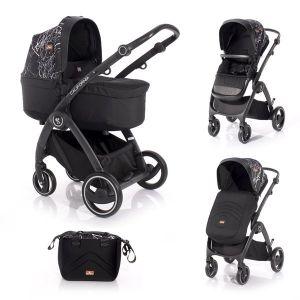 Комбинирана бебешка количка CALIFORNIA Lorelli - Black MARBLE
