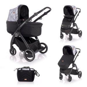 Комбинирана бебешка количка CALIFORNIA Lorelli - Grey MARBLE