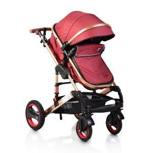 Комбинирана детска количка Gala MONI - червена