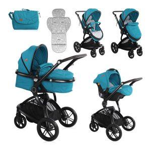 Бебешка комбинирана количка LUMINA SET LORELLI - Dark Blue