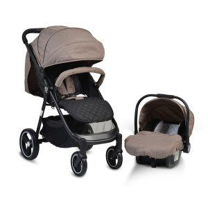 Комбинирана детска количка Sindy 2в1 MONI - бежова