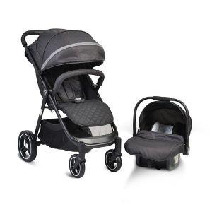 Комбинирана детска количка Sindy 2в1 MONI - черна