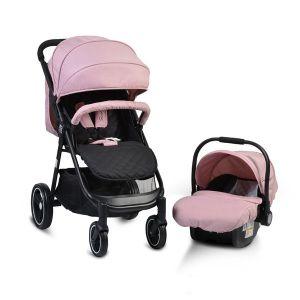 Комбинирана детска количка Sindy 2в1 MONI - розова