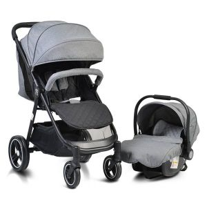 Комбинирана детска количка Sindy 2в1 MONI - сива