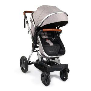 Комбинирана детска количка Veyron Moni - светло сив