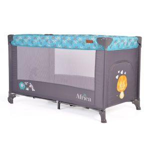 Бебешка сгъваема кошара Africa CANGAROO - тюркоаз