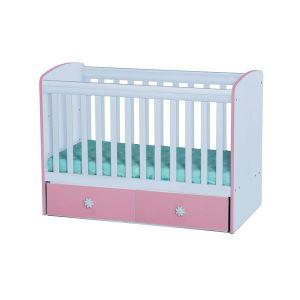 Детско легло Дани Dizain Baby - бяло + розово