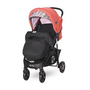 Детска количка MARTINA с покривало LORELLI - Black&Ginger ORANGE
