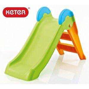 Детска пързалка Boogie Slide KETER - зелена/оранжева