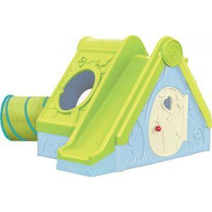 Пластмасова къща с пързалка и тунел Funtivity KETER